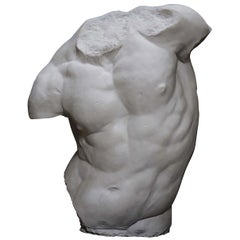 Gaddi Torso Plaster Sculpture