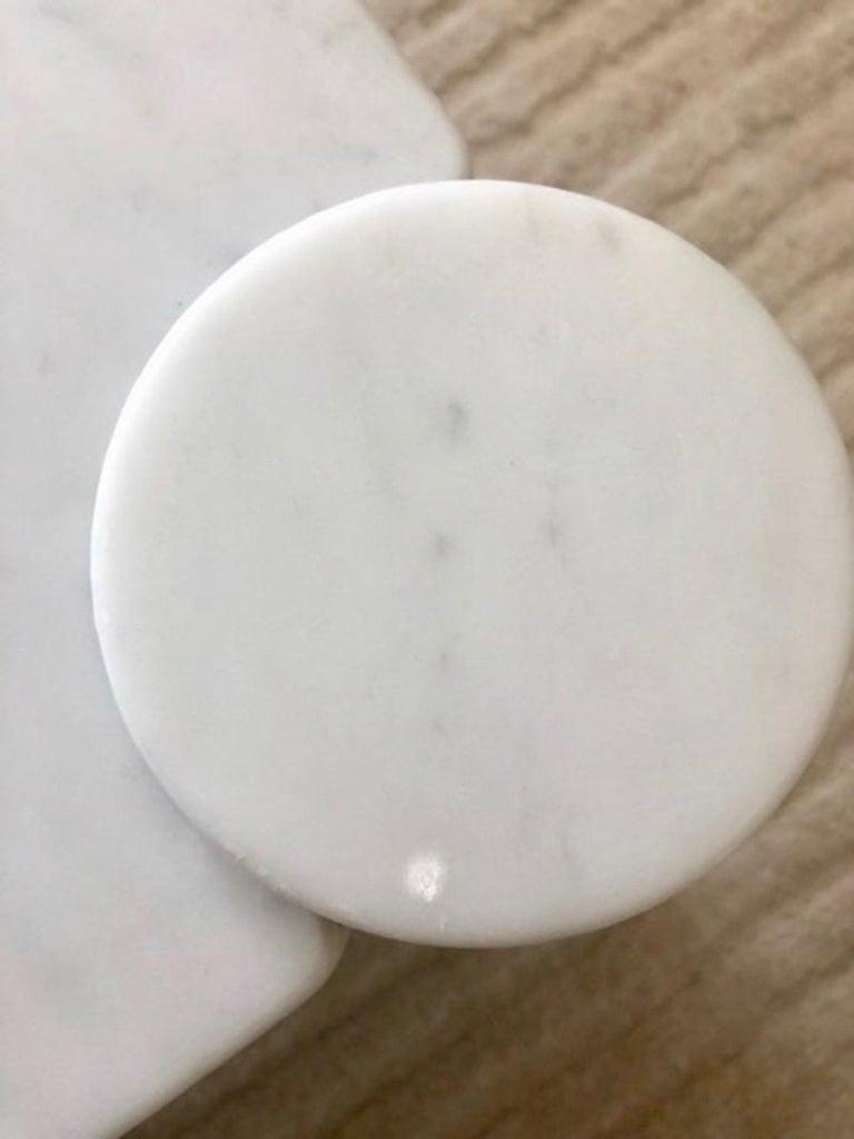 Gae Aulenti Carrara Marble Table For Sale 5