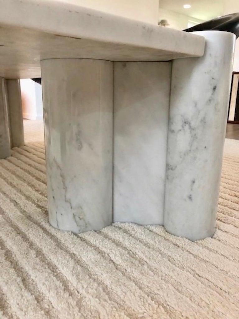 Gae Aulenti Carrara Marble Table For Sale 2