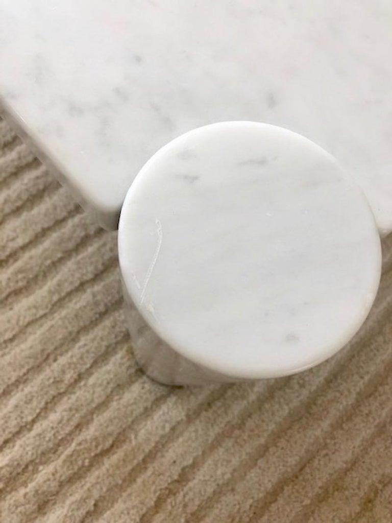 Gae Aulenti Carrara Marble Table For Sale 4