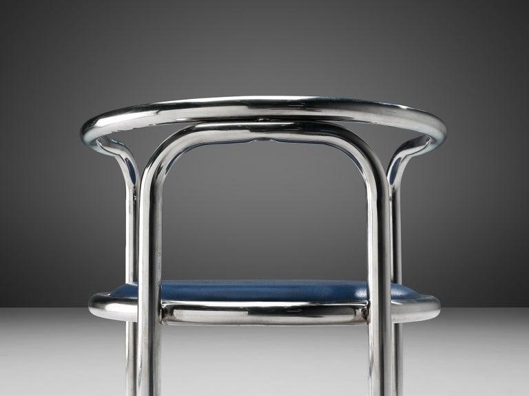 Gae Aulenti Early 'Locus Solus' Tubular Armchairs For Sale 3