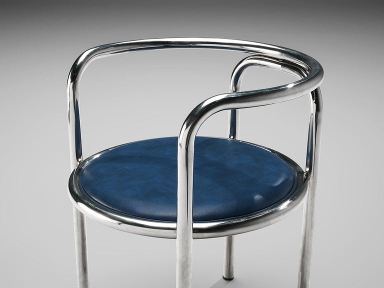 Gae Aulenti Early 'Locus Solus' Tubular Armchairs In Good Condition For Sale In Waalwijk, NL