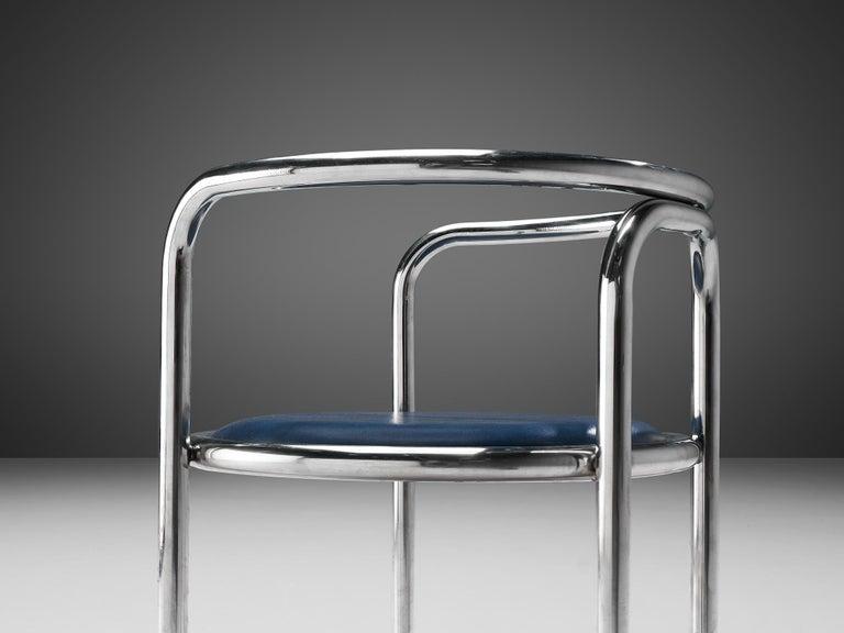 Steel Gae Aulenti Early 'Locus Solus' Tubular Armchairs For Sale