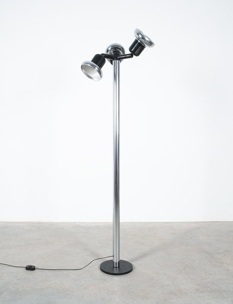 Mid-Century Modern Gae Aulenti Floor Light Three Shades Stilnovo, Italy, 1971 For Sale
