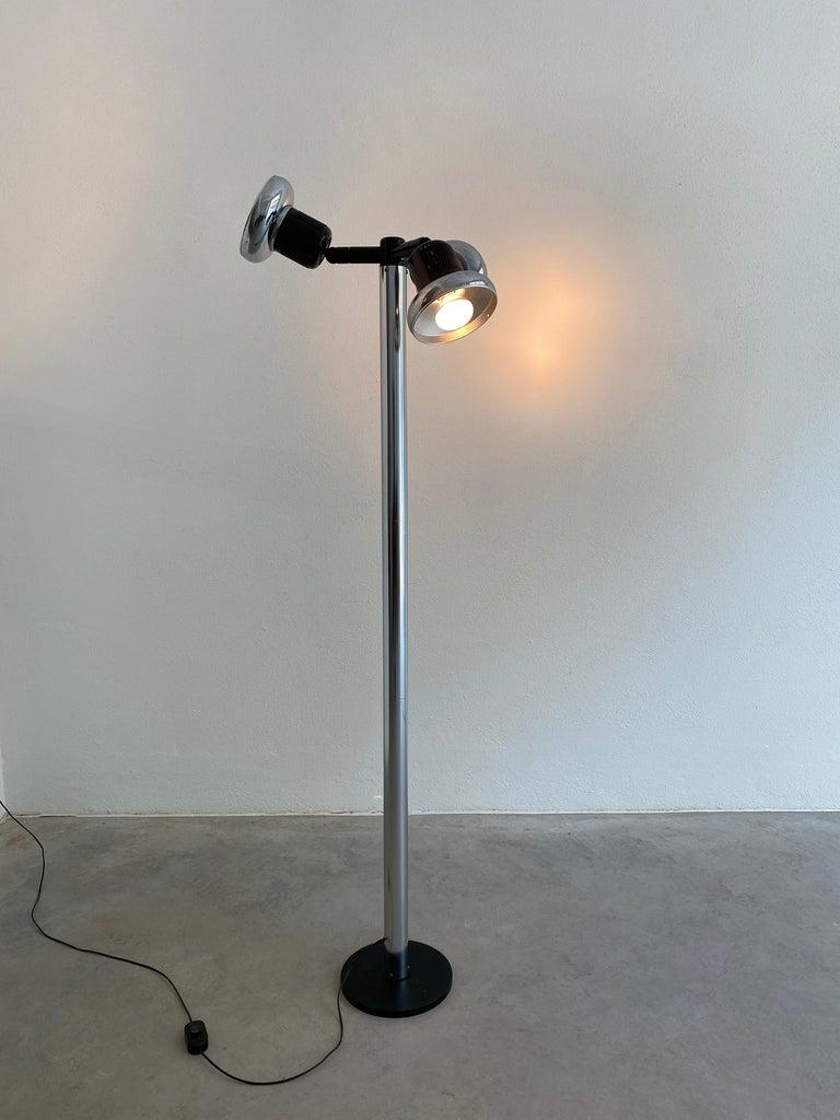 Italian Gae Aulenti Floor Light Three Shades Stilnovo, Italy, 1971 For Sale