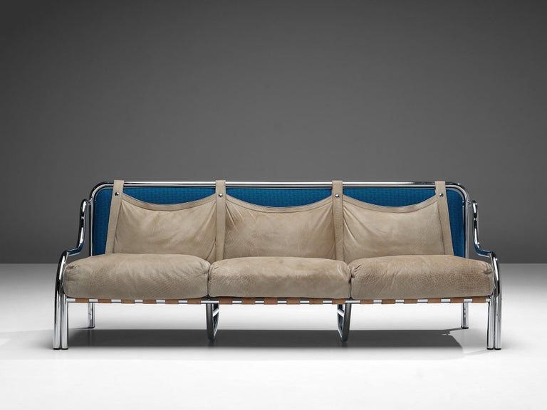 Mid-20th Century Gae Aulenti for Poltronova 'Stringa' Sofa For Sale