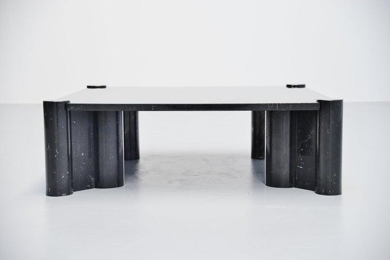 Belgian Black Marble Gae Aulenti Jumbo Coffee Table Knoll International, 1965 For Sale