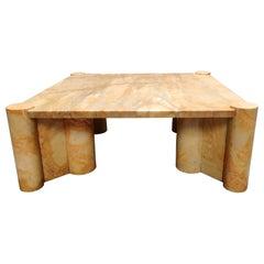 Gae Aulenti 'Jumbo' Table in Marble, 1970s