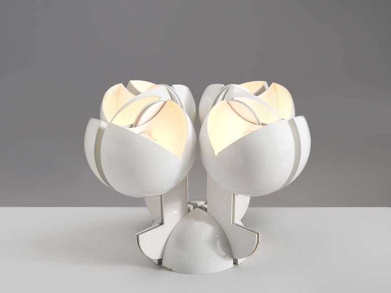 Gae Aulenti for Martinelli Luce, La Ruspa table lamp in metal by Italy, 1968.