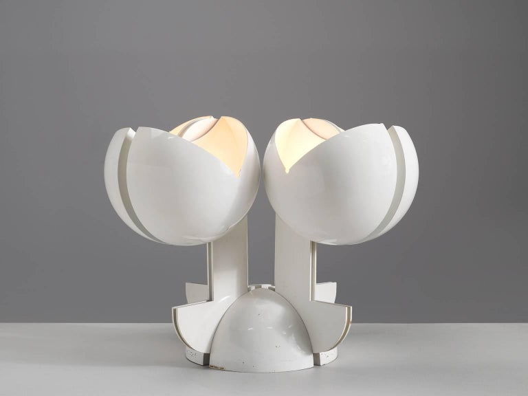 Post-Modern Gae Aulenti La Ruspa Four Shades Lamp for Martinelli Luce For Sale