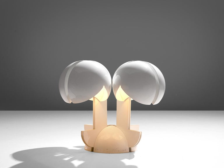 Post-Modern Gae Aulenti La Ruspa Four Shades Lamp for Martinelli Luce For Sale