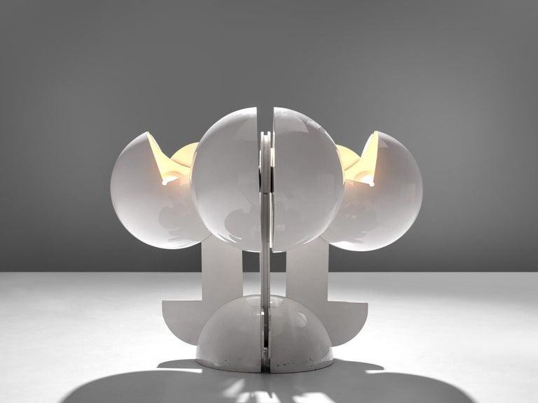 Italian Gae Aulenti La Ruspa Four Shades Lamp for Martinelli Luce For Sale