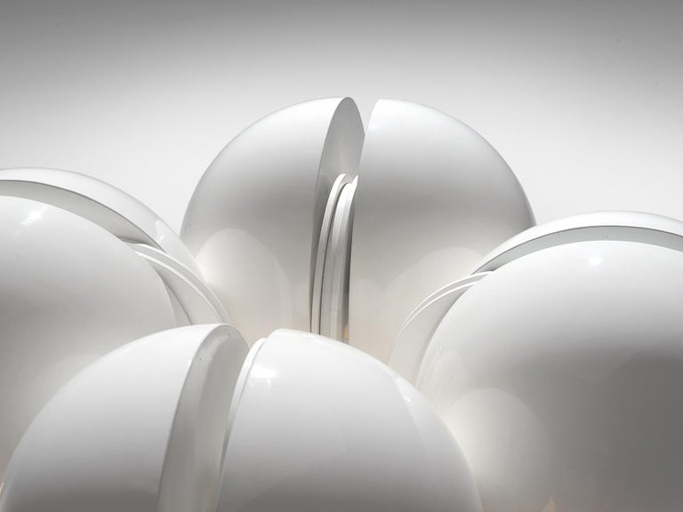 Gae Aulenti La Ruspa Four Shades Lamp for Martinelli Luce In Good Condition For Sale In Waalwijk, NL