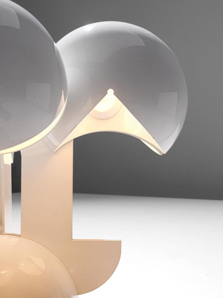 Mid-20th Century Gae Aulenti La Ruspa Four Shades Lamp for Martinelli Luce For Sale