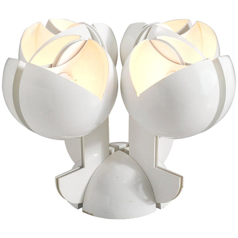 Gae Aulenti La Ruspa Four Shades Lamp for Martinelli Luce For Sale