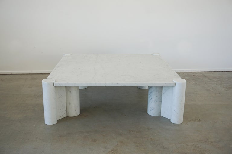 Italian Gae Aulenti Marble Table For Sale