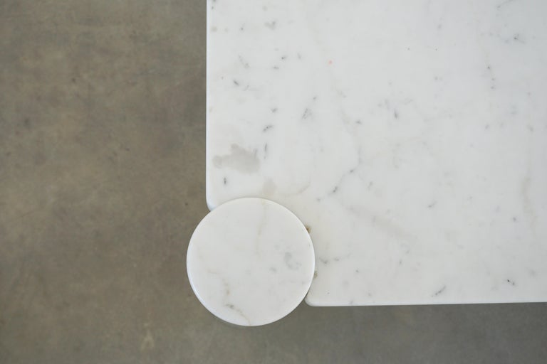Carrara Marble Gae Aulenti Marble Table For Sale