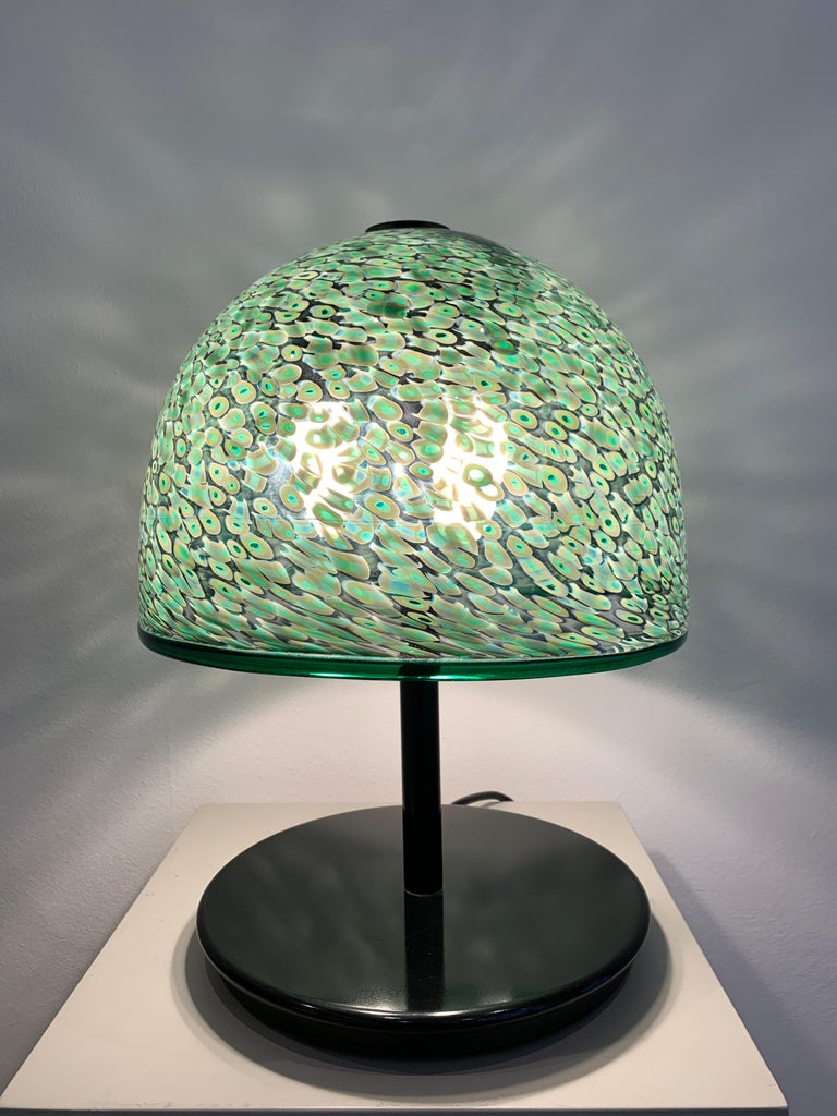 Gae Aulenti Murrine Glass Table Lamp, 1980s In Good Condition For Sale In Brussels, BE