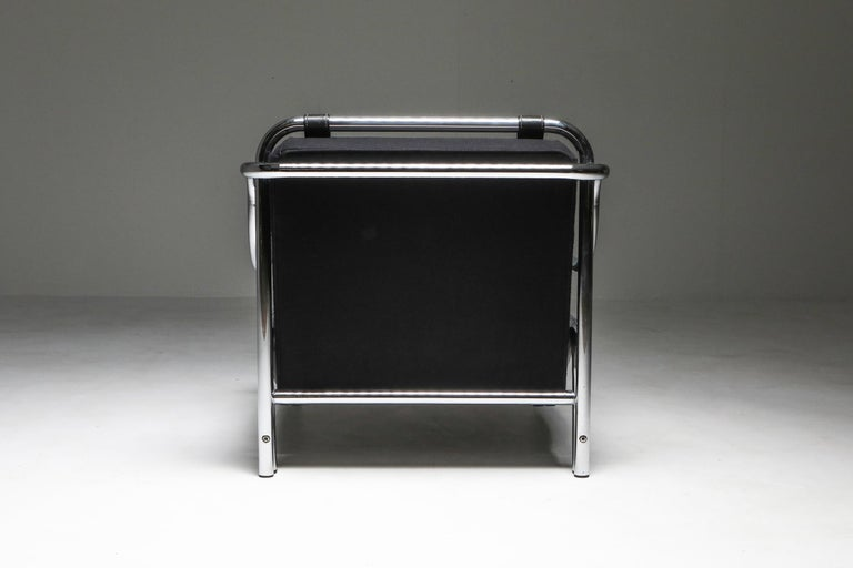 Mid-20th Century Gae Aulenti 'Stringa' Armchair Black For Sale