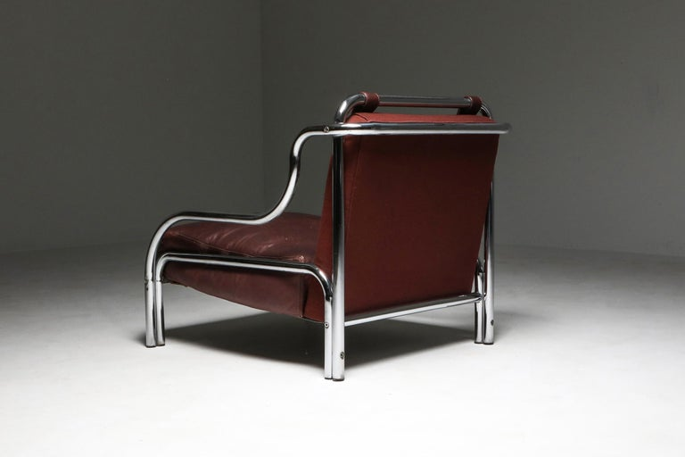 Mid-20th Century Gae Aulenti 'Stringa' Pair of Armchairs  For Sale