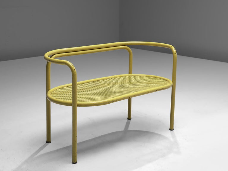 Mid-Century Modern Gae Aulenti Yellow 'Locus Solus' Bench For Sale