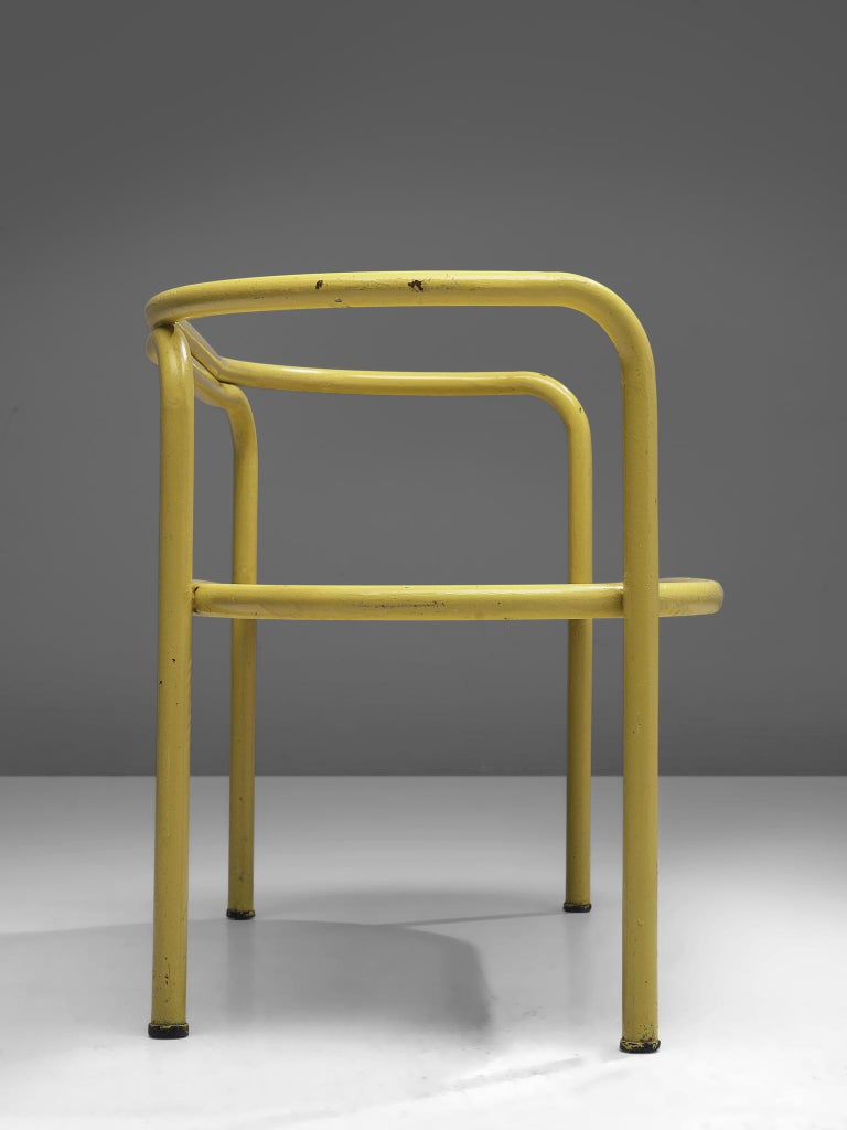 Gae Aulenti Yellow 'Locus Solus' Bench In Good Condition For Sale In Waalwijk, NL