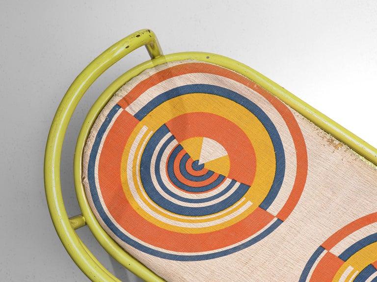 Gae Aulenti Yellow 'Locus Solus' Bench For Sale 1