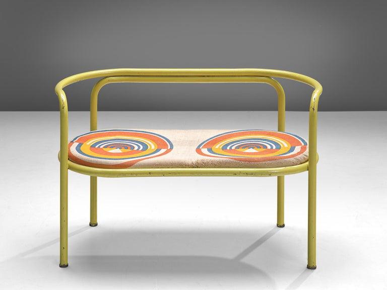 Gae Aulenti Yellow 'Locus Solus' Bench For Sale 2