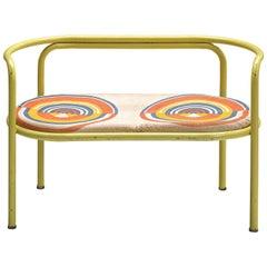 Gae Aulenti Yellow 'Locus Solus' Bench