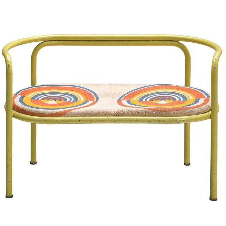 Gae Aulenti Yellow 'Locus Solus' Bench For Sale