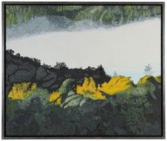 """Autumn Rays at Dawn"" Mendocino, California Landscape, Oil on Canvas"