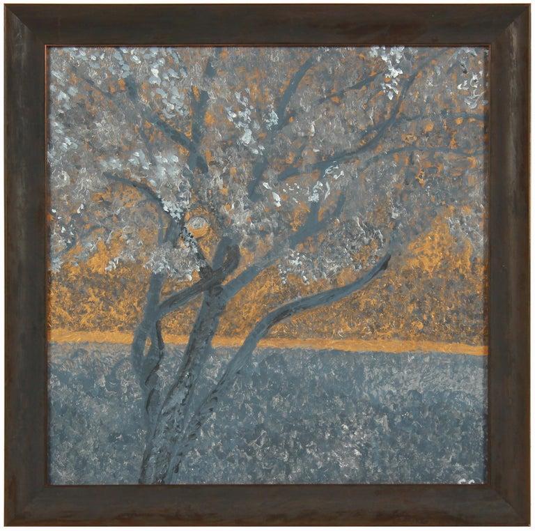 "Gaétan Caron Landscape Painting - ""Pacific Moonscape"" Acrylic on Masonite"