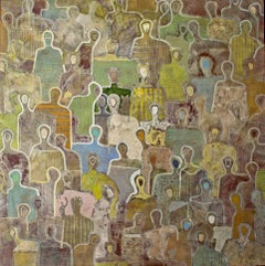 Affinity by Gaetan de Seguin - Contemporary Abstract Figurative painting