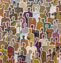 Closeness by Gaetan de Seguin - Contemporary Abstract Figurative painting