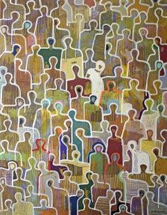 Colorful Community by Gaetan de Seguin - Contemporary Figurative painting