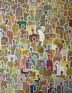 Colorful Life by Gaetan de Seguin - Contemporary Figurative painting