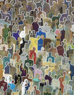 Solidarity by Gaetan de Seguin - Contemporary Abstract Figurative painting