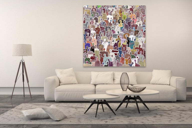 Stronger Together by Gaetan de Seguin - Contemporary Abstract painting - Painting by Gaëtan de Seguin