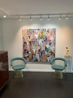 The Bands of Friendship by Gaetan de Seguin Large Contemporary Abstract painting