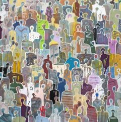 Tumultuous Love by Gaetan de Seguin - Contemporary Abstract painting