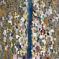 Bridge the Gap by Gaetan de Seguin - Contemporary Abstract Figurative painting