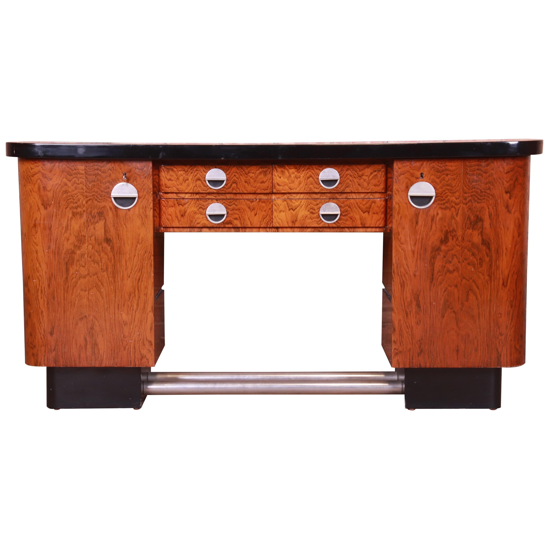 Gaetano Borsani Italian Art Deco Rosewood Sideboard or Bar Cabinet, 1930s