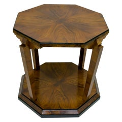 Gaetano Borsani Italian Walnut Art Deco Atelier Varedo Coffee Table, 1925