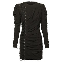 Gaetano Navarra Lace Up Mini Dress