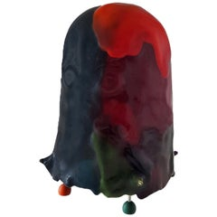 Gaetano Pesce Contemporary Italian Floor Lamp, Table Lamp in Multi-Color Resin