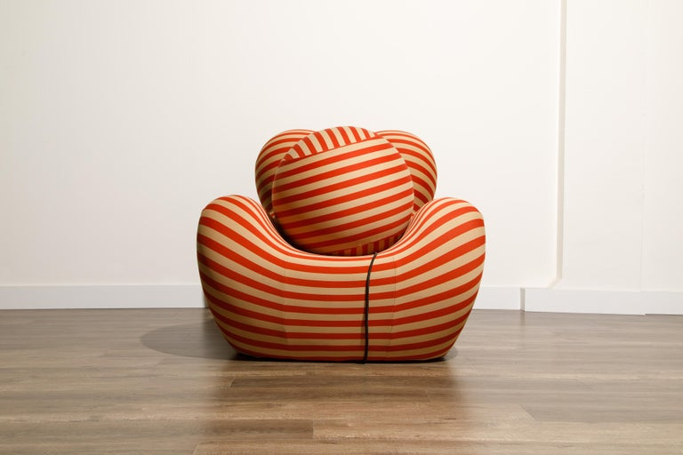 Modern Gaetano Pesce for B&B Italia UP5 and UP6 Lounge Chair and Ottoman, Signed For Sale
