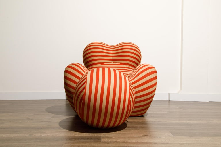 Italian Gaetano Pesce for B&B Italia UP5 and UP6 Lounge Chair and Ottoman, Signed For Sale