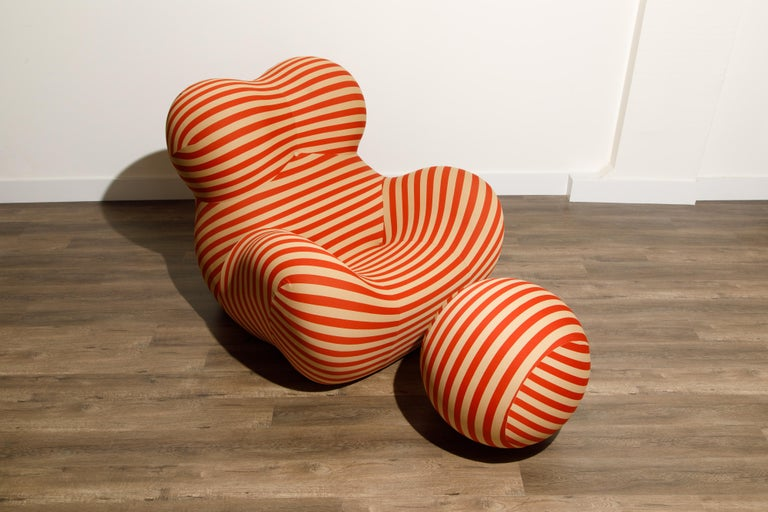 Nylon Gaetano Pesce for B&B Italia UP5 and UP6 Lounge Chair and Ottoman, Signed For Sale
