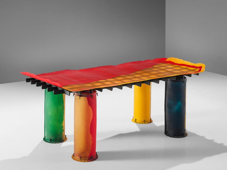 Post-Modern Gaetano Pesce for Zerodesigno 'Nobody's Perfect' Dining Table
