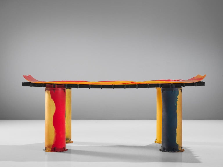 Italian Gaetano Pesce for Zerodesigno 'Nobody's Perfect' Dining Table